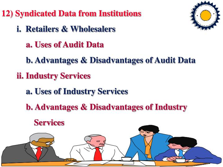 12) Syndicated Data from Institutions