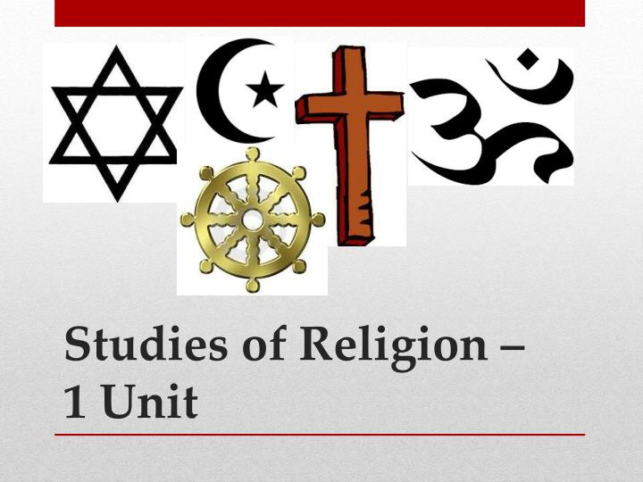 studies of religion 1 unit