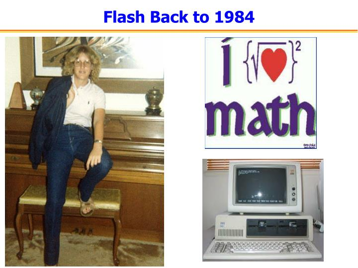 Flash back to 1984