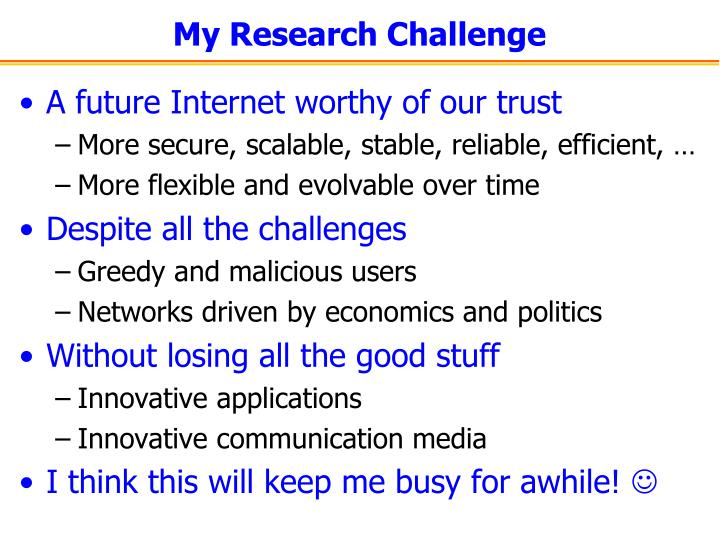 My Research Challenge