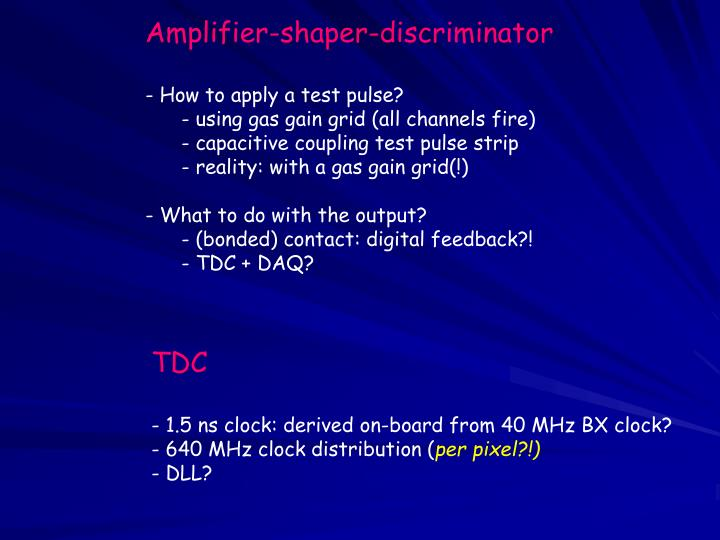 Amplifier-shaper-discriminator
