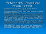 modello hydra hydrological routing algorithm