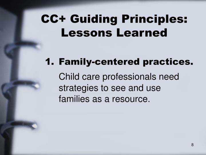CC+ Guiding Principles: