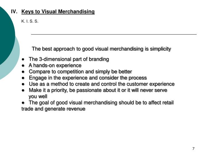 Keys to Visual Merchandising