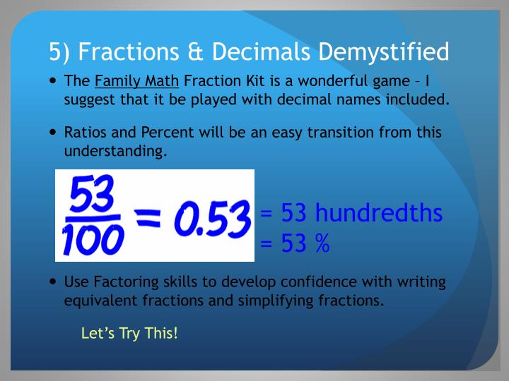5) Fractions & Decimals Demystified