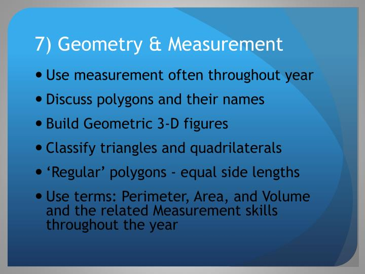 7) Geometry & Measurement