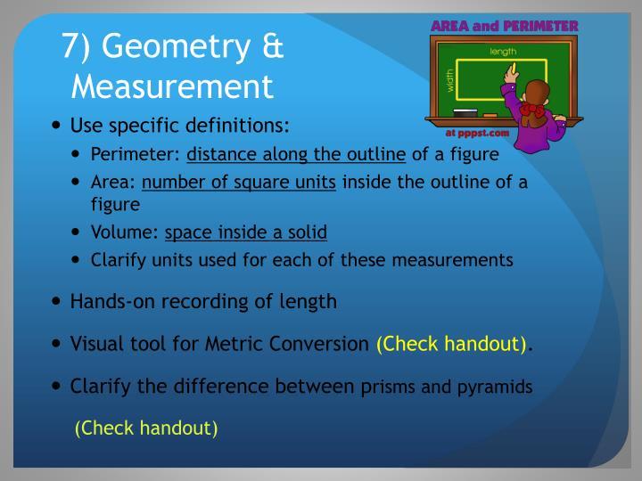 7) Geometry &