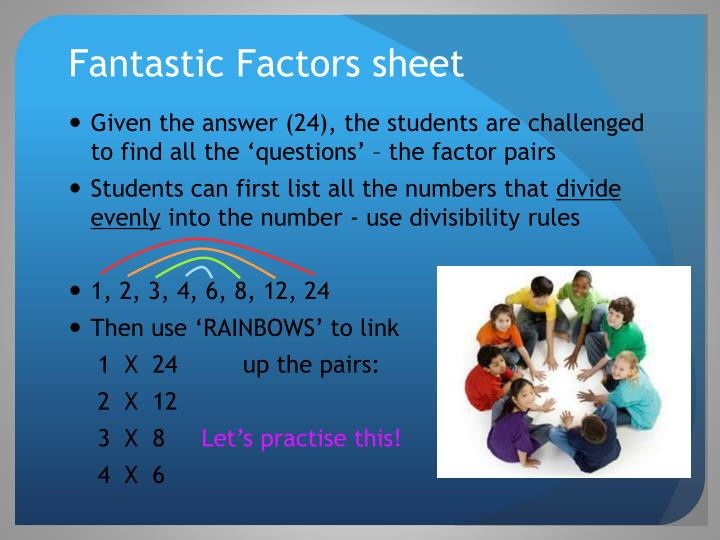 Fantastic Factors sheet