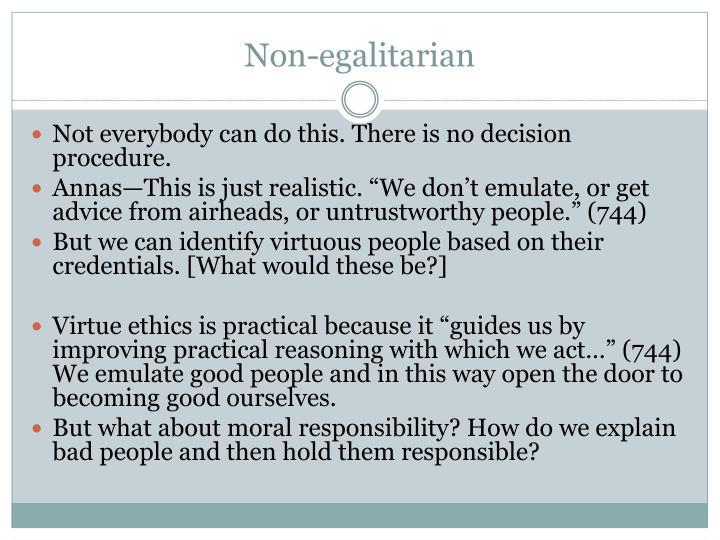 Non-egalitarian