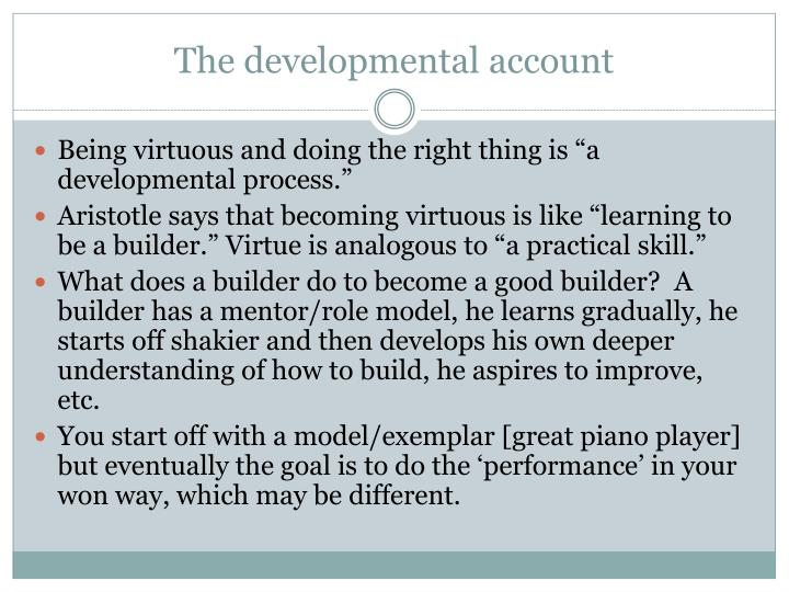The developmental account