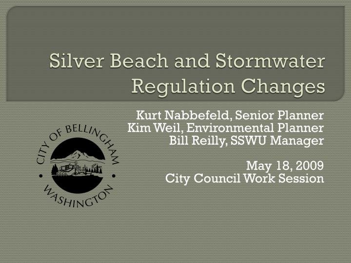 silver beach and stormwater regulation changes