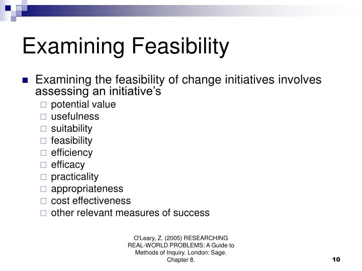 Examining Feasibility