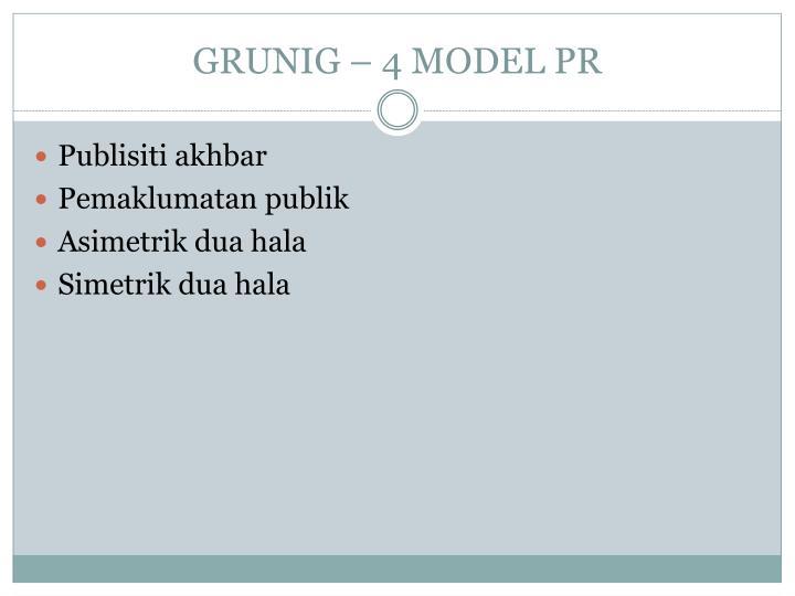 GRUNIG – 4 MODEL PR
