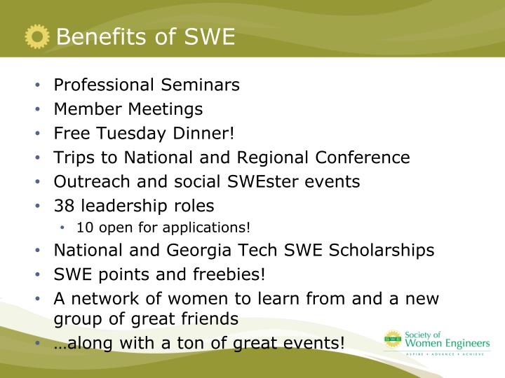 Benefits of SWE