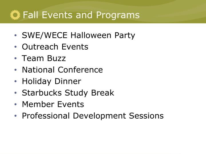 Fall Events and Programs