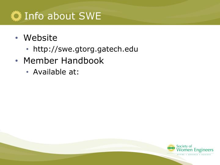 Info about SWE