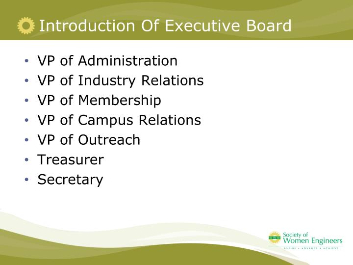 Introduction Of Executive Board