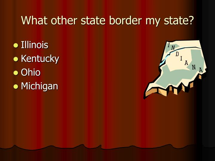 What other state border my state