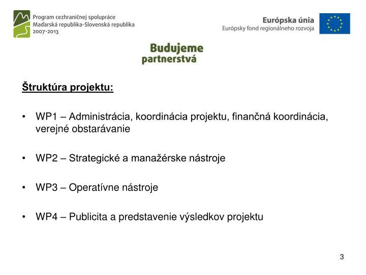 Štruktúra projektu: