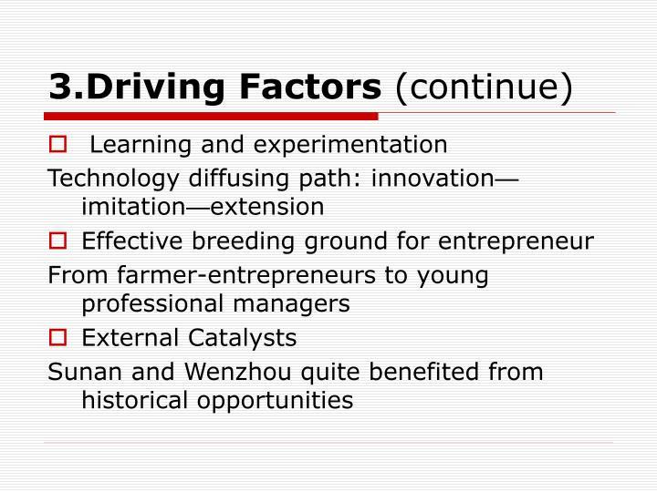 3.Driving Factors