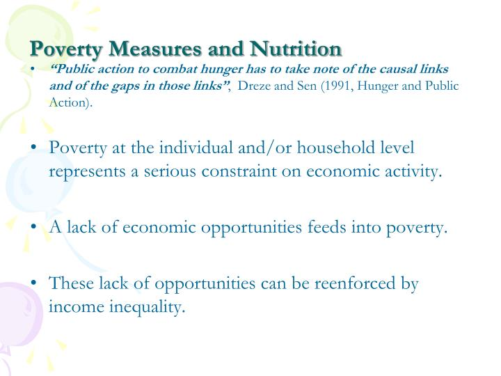 Poverty measures and nutrition1