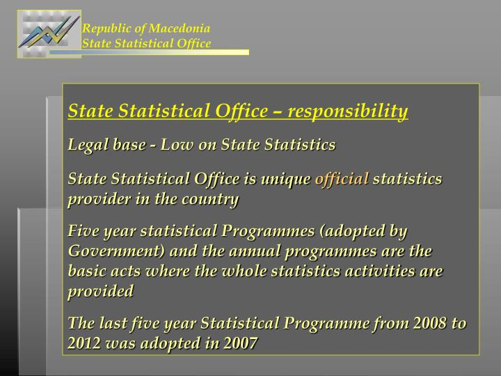 Republic of macedonia state statistical office1