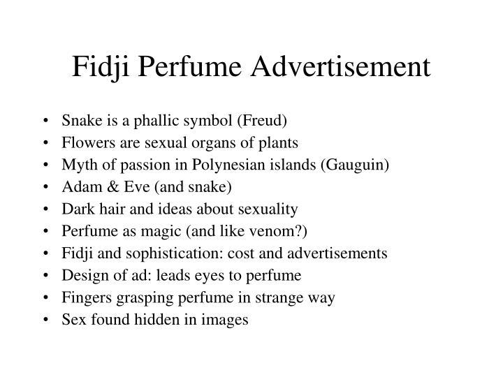 Fidji Perfume Advertisement