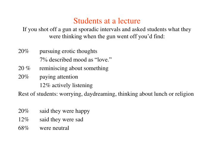 Students at a lecture