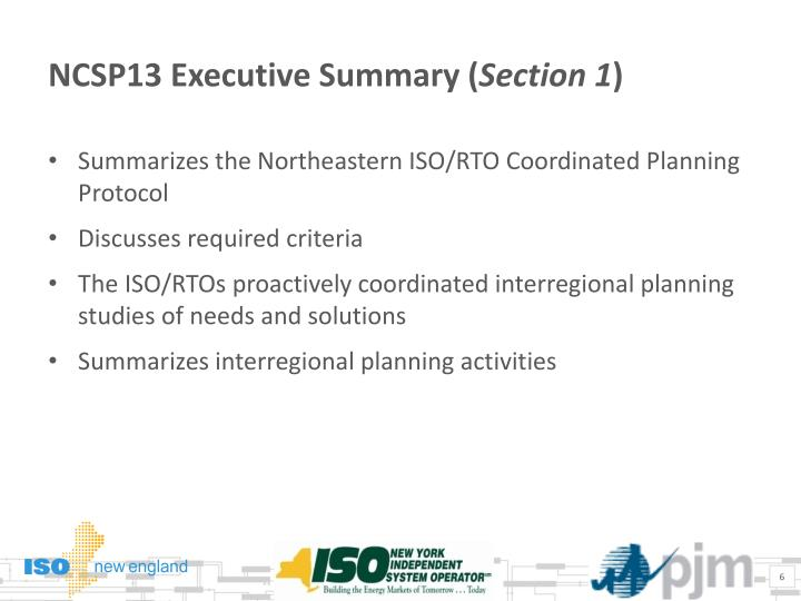 NCSP13 Executive Summary (