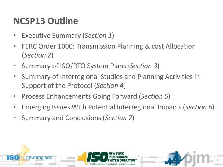 NCSP13 Outline