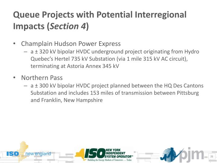 Queue Projects with Potential Interregional Impacts (