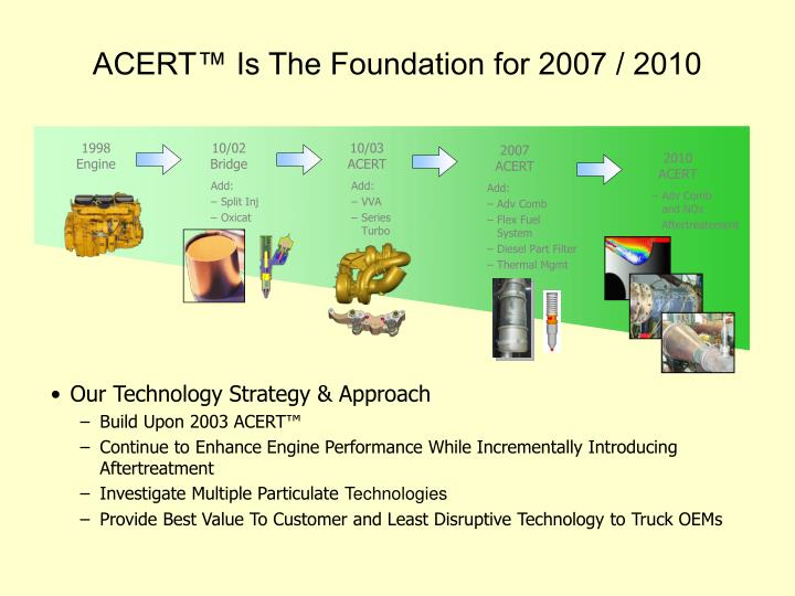 Acert is the foundation for 2007 2010