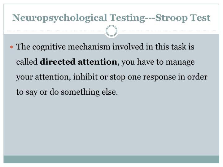 Neuropsychological Testing---