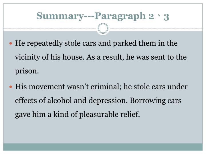 Summary---Paragraph 2