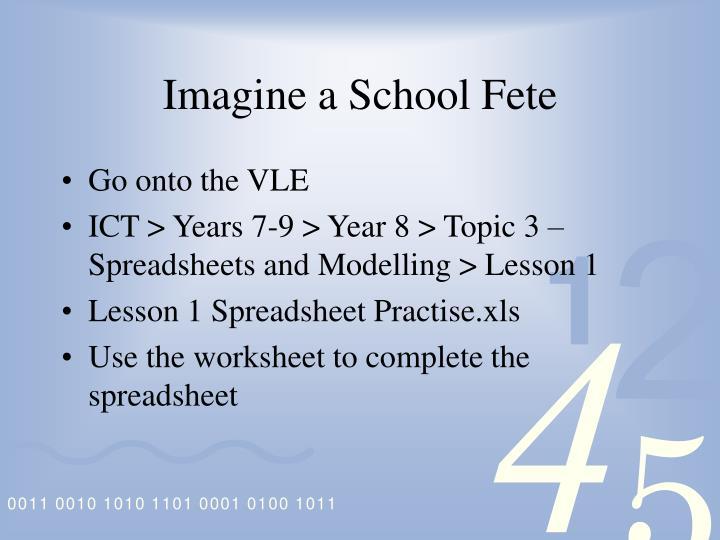 Imagine a School Fete