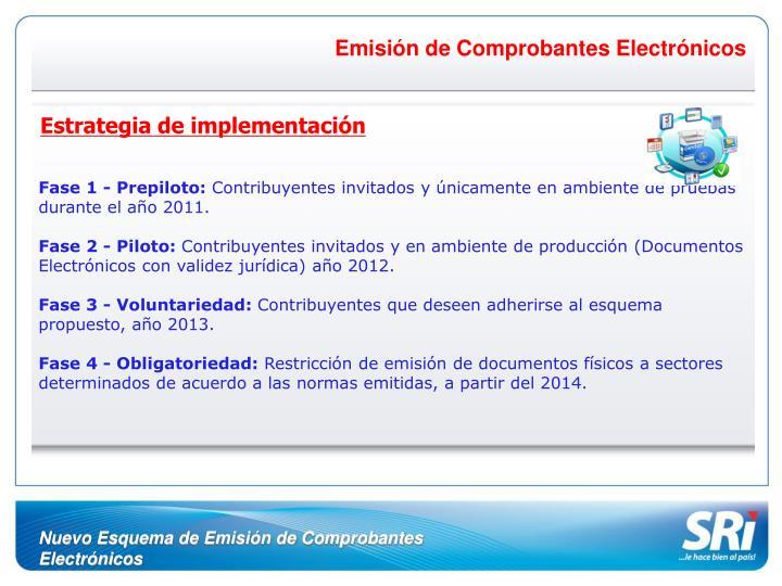 Emisión de Comprobantes Electrónicos
