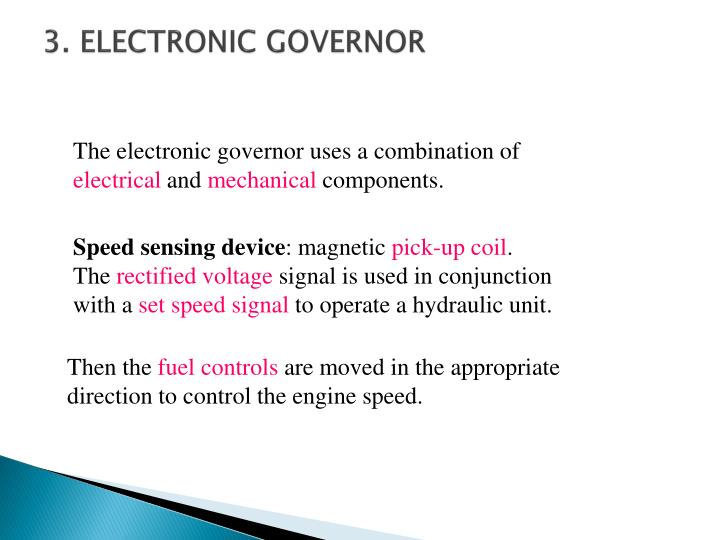 3. ELECTRONIC GOVERNOR