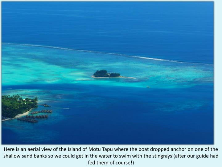 Here is an aerial view of the Island of