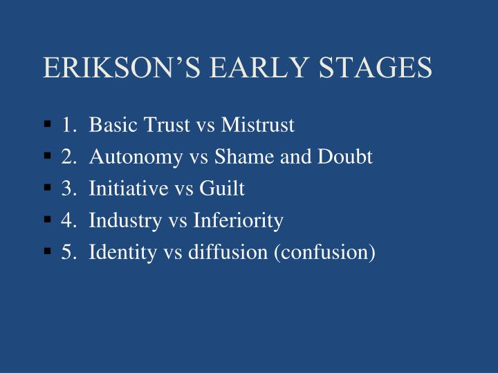 ERIKSON'S EARLY STAGES