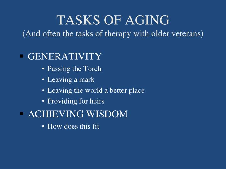 TASKS OF AGING