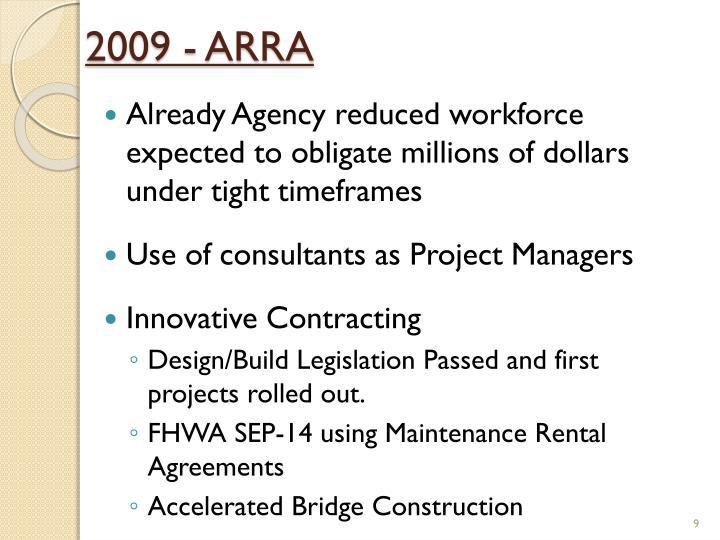 2009 - ARRA