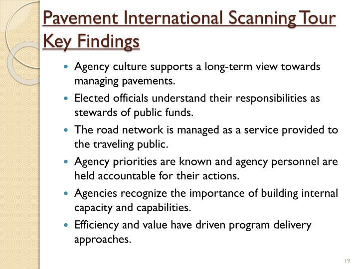 Pavement International Scanning Tour Key Findings