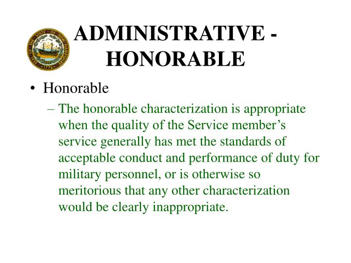 ADMINISTRATIVE - HONORABLE