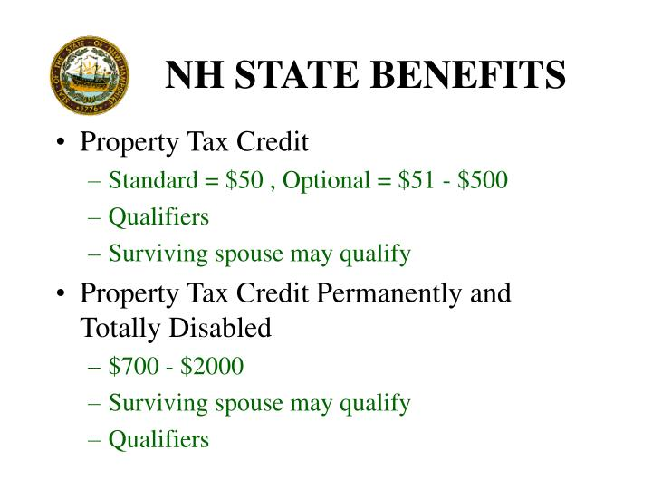 NH STATE BENEFITS