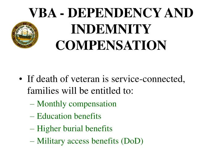 VBA - DEPENDENCY AND INDEMNITY COMPENSATION