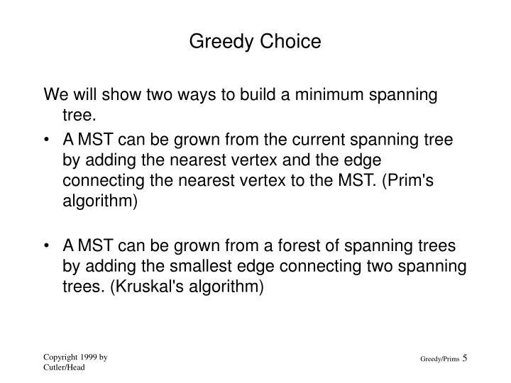 Greedy Choice