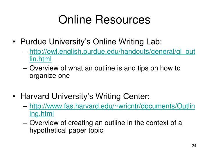 Online Resources