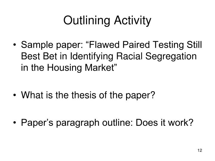 Outlining Activity