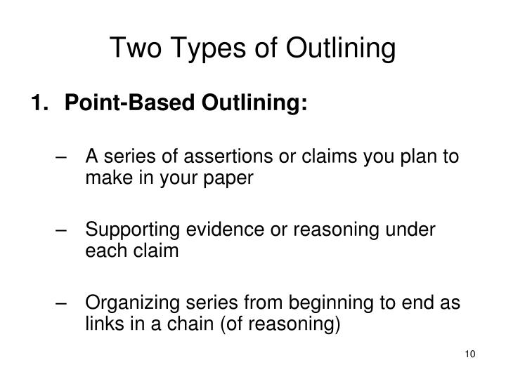 Two Types of Outlining