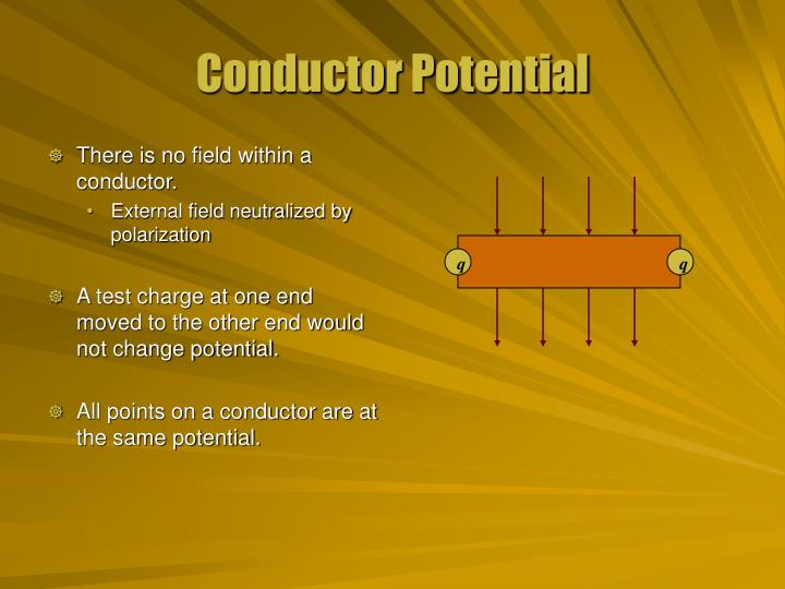 There is no field within a conductor.